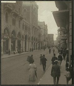 Grand Rue de Pera, Istanbul, Turkey 26 July, 1912