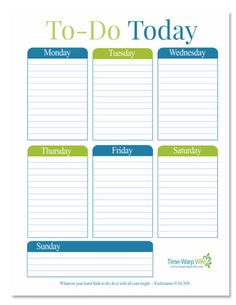 "Free Printable! Daily ""To-Do"" List 
