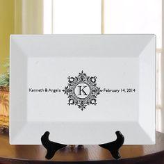 Monogram In Ornate Flourish Frame Wedding by PersonalizednPrinted