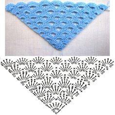 Crochet, heegeldatud sall-rätik