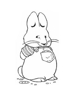 week 9 kindergarten chubby max standing waiting for ruby in max and ruby coloring page