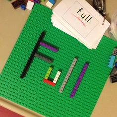 LEGO spelling or sight word work