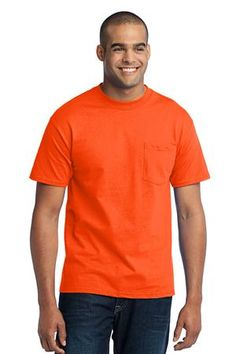 Port & Company Tall 50/50 Cotton/Poly T-Shirt with Pocket Style PC55PT - Casual Clothing from the Best Apparel Brands
