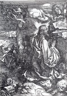 """""""Agony in the Garden"""" or """"Christ on the Mount of Olives"""" (1515) - Albrecht Dürer (1471-1528)"""
