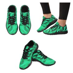 Sneakers men green and black large size Non Slip Sneakers, High Top Sneakers, Tropical Leaves, Sports Shoes, S Star, Hiking Boots, Creations, Loafers, Slip On