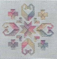 Counted cross stitch pattern and detailed instructions. And yes, this is designed for kids!