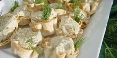 Smoked Salmon Mousse in Tortilla Cups.