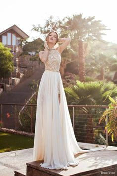 Cheap Beaded Beach Sexy Wedding Dress 2016 Chiffon A Line Wedding Gown Robe De Mariage Casamento vestido de noiva 2016 Wedding Dresses 2014, Grad Dresses, Beach Dresses, Homecoming Dresses, Bridesmaid Dresses, Formal Dresses, Dress Beach, Maxi Dresses, Dress Wedding