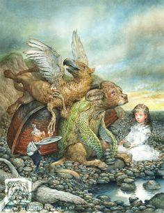THE MOCK TURTLE - ALICE N WONDERLAND BY OMAR RAYYAN