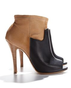 With jeans or shorts: Maison Martin Margiela Two-Tone Stretch Leather Bootie