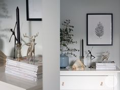 Brutna färger i sovrummet Skandinaviskt hem