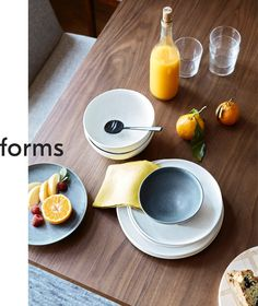 Kanto Dinnerware subtly mixes finishes and organic forms for relaxed rustic style.