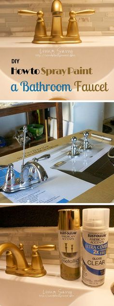 Check out the tutorial on how to #SprayPaint a faucet #DIY #HomeDecorIdeas @istandarddesign