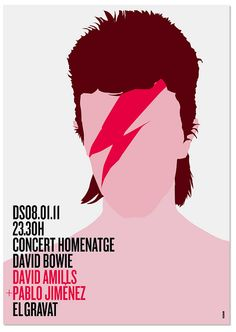 Poster Bowie tribute concert by MARIN DSGN