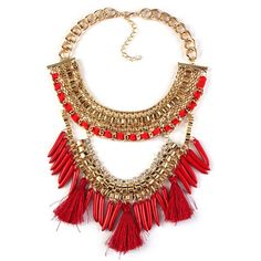 Red Spectacular Necklace - My Glam Styles  - 1