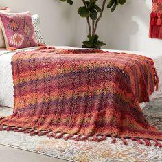 Caron® Big Cakes™ Ocean Waves Crochet Blanket in Cranberry Crisp http://www.michaels.com/m/B_84544