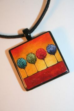 Four Seasons Polymer Clay Necklace by trinketsbytrish on Etsy