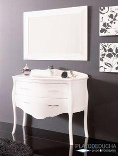 Mueble de Baño París con tiradores de Cristales de Swarovski y diferentes acabados entre los que elegir Vanity, Bathroom, Drawer Pulls, Bathroom Furniture, Crystals, Style, Dressing Tables, Washroom, Powder Room