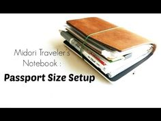 How I use my Midori Traveler's Notebook Passport Size when traveling. - Notebook inserts I use: 004 zippered pocket 010 kraft file folder 002 grid paper refi...