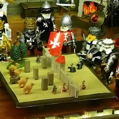 #playmobil #king and #knights #setting #attack #diorama