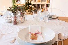 Decoración de la #mesa de #navidad. #diy servilletero. Fotos ©Three in Barcelona.