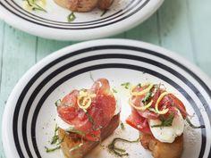 Bruchettas au caviar de tomate