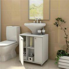 Gabinete para Banheiro Politorno com 2 Portas - Branco