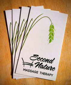 Second Nature Massage Therapy for equine enthusiasts logo & business cards