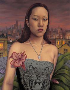 "Sylvia Ji  Oil on Canvas   28"" x 22""   2010"