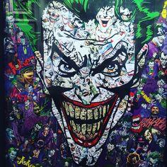 #joker & friends by #garcin #streetart #graffiti #graff #spray #bombing #sprayart #wall #instagraff #instagraffiti #streetartist #urbanart #streetartparis #wallporn #streetarteverywhere #graffitiart #graffitiporn #streetphoto #urbanwalls Galerie Sakura #paris