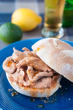 Pork Tenderloin Sandwiches (Bifanas das Ribeiras). This pork tenderloin sandwich recipe comes directly from mom's recipe book. Another wonderful, traditional recipe from the Azores Islands. Full of flavour! #azoresrecipes #portugalrecipes #bifana #bifanarecipe #porksandwich #porktenderloinsandwich #porktenderloin #porktenderloinrecipes #portugesesandwich #ribeiras #pico #prego