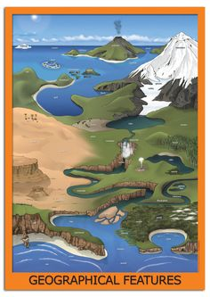 Wg4370geographical Features Teaching Classroom Display Poster