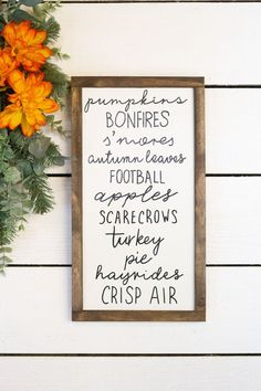 Items similar to Fall Bucket List Wood Sign, Autumn Activity List on Etsy List Of Activities, Autumn Activities, Activity List, Painted Wood Signs, Wooden Signs, Fall Decor, Holiday Decor, Diy Art Projects, Happy Fall Y'all