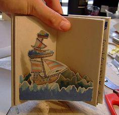 A pop-up book business card? 3d Cards, Pop Up Cards, Folded Cards, Cool Business Cards, Business Card Design, Creative Business, Up Book, Book Art, Arte Pop Up