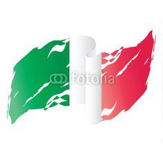 Bandiera dell'Italia che sventola