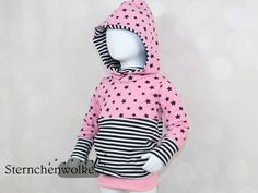 Pullover - Hoodie Stars/Stripes *Wunschgröße* - ein Designerstück von Sternchenwolke bei DaWanda