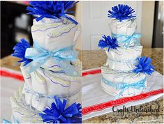 Easy Diaper Cake for a Baby Shower