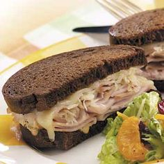 Turkey Reubens (for Chris) - can use leftover turkey or deli-sliced turkey