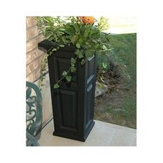 Mayne Nantucket - 32 Tall Planter 4833 - Patio Decor - Garden Planters and Posts Large Outdoor Planters, Tall Planters, Patio Planters, Bjs Wholesale, Resin Planters, Tall Flowers, Mould Design, Wall Molding, Garden Boxes