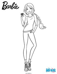 barbie casual chicbarbie is always stylish even when she dresses casual now you can print this barbie coloring page to color at home or decorate online - Barbie Coloring Page