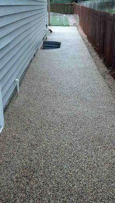 resealed stone deck with epoxy We are looking at different epoxy options and looks for the stairs and deck Epoxy Garage Floor Coating, Epoxy Floor, Tile Floor, Pebble Patio, Pebble Floor, Concrete Stairs, Concrete Patio, Concrete Cover, Stained Concrete