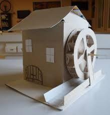 Resultat De Recherche D Images Pour Modele De Moulin En Carton Maison En Carton Maison De Noel Deco Noel