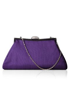 Dupioni Trapezoid Clutch with Jeweled Clasp by Dessy Group Style CLUBG8 - $28 http://www.shopjoielle.com/product/dessy-dupioni-trapezoid-clutch/
