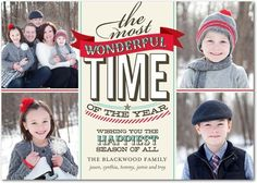 Flat Holiday Photo Cards Charming Carol - Front : Linen