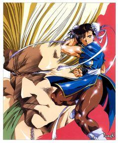 "Guile & Chun Li from ""Street Fighter"" series by manga artist Satoshi Urushihara."