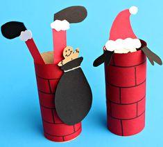 Babbo Natale con rotoli di carta n.3