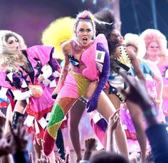 The VMAs took over LA on Sunday night, and there were endless entertaining moments. On top of the incredible performances, there was plenty of drama, shade thrown, some tears, and tons of boundary-pushing fashion.