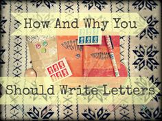 Writing Letters, Paperchase, Start Writing, Happy Mail, Let It Be, Create, Check, Tips, Fun
