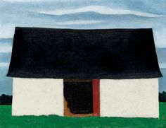 View LITTLE BARN By Georgia O'Keeffe; Access more artwork lots and estimated & realized auction prices on MutualArt. Artist Painting, Painting & Drawing, Painting Styles, Georgia O'keefe Art, Georgia O Keeffe Paintings, Little Barn, Winter White, American Artists, Fine Art