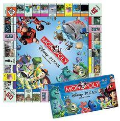 Monopoly - Disney Pixar edition @ niftywarehouse.com #NiftyWarehouse #Disney #DisneyMovies #Animated #Film #DisneyFilms #DisneyCartoons #Kids #Cartoons